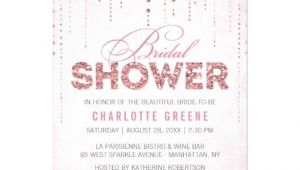 "Sparkly Bridal Shower Invitations Glitter Look Bridal Shower Invitation 5"" X 7"" Invitation"