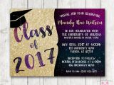 Sparkly Graduation Invitations Printable Graduation Invitations Glitter Galaxy