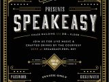 Speakeasy Party Invitation Secret Speakeasy Invitation On Behance