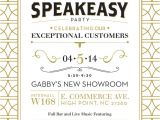 Speakeasy Party Invitation Speakeasy Party Invitation Oxsvitation Com