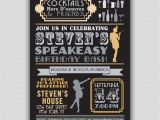 Speakeasy Party Invitation Speakeasy Prohibition 1920s Art Deco Invitation