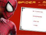 Spiderman Party Invitation Template Free Printable Blank Spiderman Birthday Invitation Free
