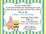 Spongebob Birthday Invitation Ideas 40th Birthday Ideas Birthday Invitation Template Spongebob