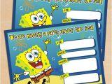 Spongebob Birthday Invitation Ideas Free Spongebob Invite Free Printable Spongebob Squarepants