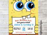 Spongebob Birthday Invitation Ideas Modern Spongebob Birthday Party Invitation
