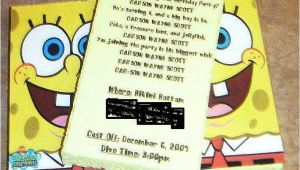 Spongebob Birthday Invitation Ideas Our Scott Spot Spongebob Invitations