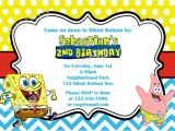 Spongebob Birthday Invitation Ideas Spongebob Chevron Birthday Invitation Diy by Modpoddesigns