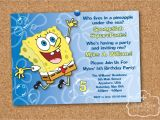 Spongebob Birthday Invitation Ideas Spongebob Squarepants Birthday Party Printable Invitation