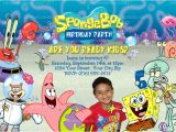 Spongebob Squarepants Invitations Birthday Party Spongebob and Patrick Invitation Spongebob Squarepants