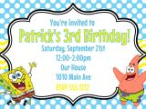 Spongebob Squarepants Invitations Birthday Party Spongebob Squarepants Birthday Party Invitation Printable 4×6