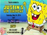 Spongebob Squarepants Invitations Birthday Party Spongebob Squarepants Birthday Party Invitations