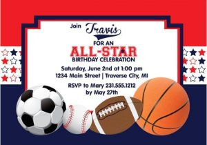 Sports Birthday Invitations Free Printable All Star Birthday Invitation Printable Sports Birthday