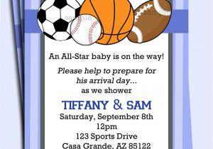 Sports Birthday Invitations Free Printable All Star Sports Invitation Printable or Printed with Free