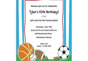 Sports Birthday Invitations Free Printable Free Printable Sports Birthday Invitations