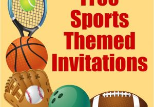Sports Birthday Invitations Free Printable Free Printable Sports Birthday Party Invitations Templates