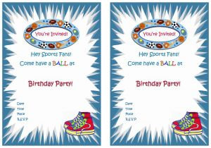 Sports Birthday Invitations Free Printable Sports Birthday Invitations – Birthday Printable
