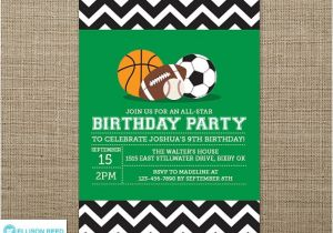 Sports Birthday Invitations Free Printable Sports Invitation Sports Birthday Sports Printable