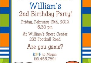 Sports Birthday Invitations Free Printable Sports themed Baby Shower and Birthday Party Invitation