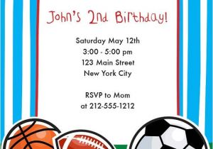 Sports Birthday Invitations Free Printable Sports themed Birthday Invitation Sports Birthday Party
