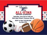 Sports Birthday Party Invitation Wording All Star Birthday Invitation All Star Invitation