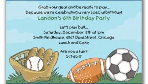 Sports Birthday Party Invitation Wording Sports Birthday Invitations Ideas Bagvania Free