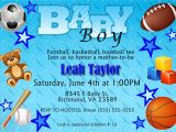Sports themed Baby Shower Invitation Templates Free Printable Baby Shower Invitations for Boys