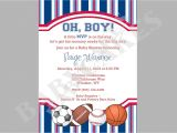Sports themed Baby Shower Invitation Templates Sports theme Baby Shower Invitation Diy Print Your by