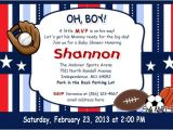 Sports themed Baby Shower Invitation Templates Sports themed Baby Shower Ideas