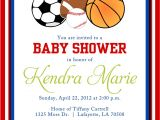 Sports themed Baby Shower Invitation Templates Sports themed Baby Shower Invitation Templates