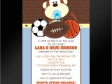 Sports themed Baby Shower Invitation Templates theme Sports themed Baby Shower Invitations
