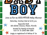 Sports themed Baby Shower Invitations for Boy All Star Sports Baby Boy Shower Invitation Printable