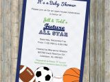 Sports themed Baby Shower Invitations for Boy Baby Boy Shower Invitations All Star Invite Sports themed