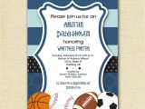 Sports themed Baby Shower Invitations for Boy Mod Allstar Sports theme Baby Shower or Birthday Party