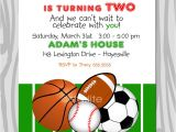 Sports themed Birthday Invitation Wording All Star Birthday Party Invitation Sports theme by Starwedd