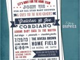 Sports themed Bridal Shower Invitations All Star Baby or Wedding Shower Americana Sports by Mtipsy