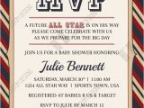 Sports themed Bridal Shower Invitations All Star Mvp Vintage Sports themed Baby Shower Invitation