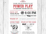 Sports themed Bridal Shower Invitations the Last Power Play Hockey themed Bachelorette Party