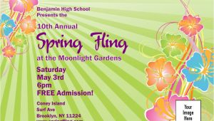 Spring Fling Party Invitations Spring Fling Invitation