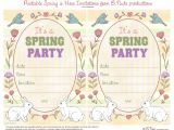 Spring Party Invitation Templates Free Bnute Productions Free Printable Spring is Here Easter