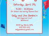 Spring Party Invitation Templates Free Flying Kites Invitation