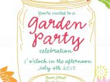 Spring Party Invitation Templates Free orange Canning Jar Spring Garden Party Invitation Design