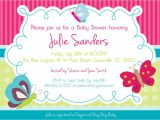 Spring themed Baby Shower Invitations butterfly themed Baby Shower Invitations Party Xyz