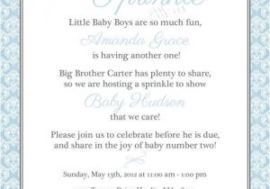 Sprinkle Baby Shower Invitation Wording Watering Can Baby Sprinkle Invitation Sprinkle Shower