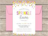 Sprinkle Birthday Invitations Baby Sprinkle Party Printable Baby Shower Invitation My