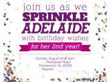 Sprinkle Birthday Invitations Sprinkle Party Invitations