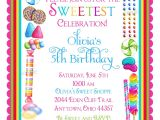 Sprinkle Birthday Party Invitations Candy Birthday Invitations Candy Sprinkle Sweet Shoppe