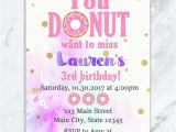 Sprinkle Birthday Party Invitations Donut and Pajama Party Donut Birthday Invitation Donut