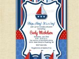 Sprinkle Birthday Party Invitations Ships Ahoy Sailboat Baby Shower or Birthday Party