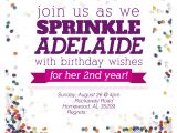 Sprinkle Birthday Party Invitations Sprinkle Party Invitations