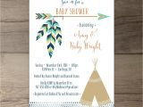 Sprinkle Birthday Party Invitations Tribal Baby Shower Invitations • Birthday Pow Wow • Arrows